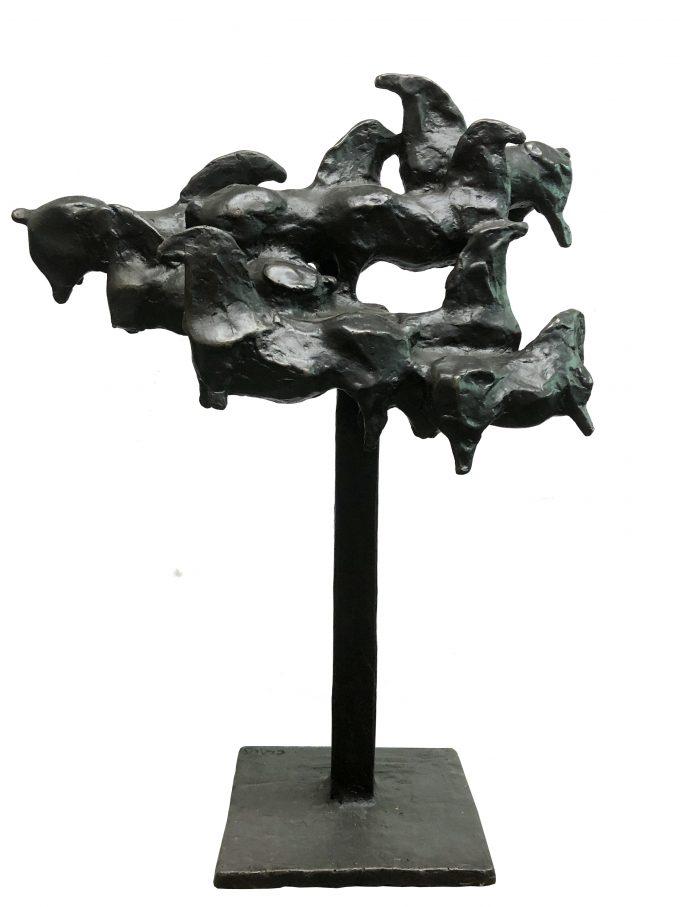 Nevelpaarden, brons beeld, Eric Claus