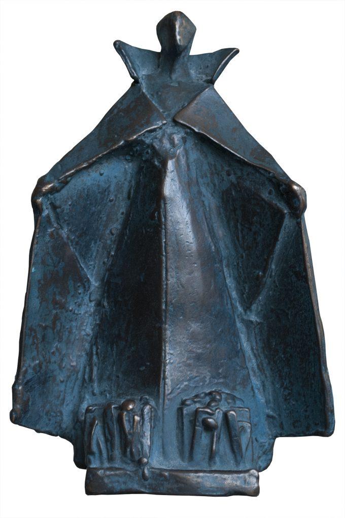 Blauwe Mantelmadonna, brons beeld, Eric Claus